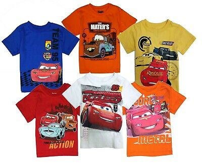 Disney Cars t Shirt Toddler Boys Baby Shirts Cotton Short Sleeve 12 Months - 4T