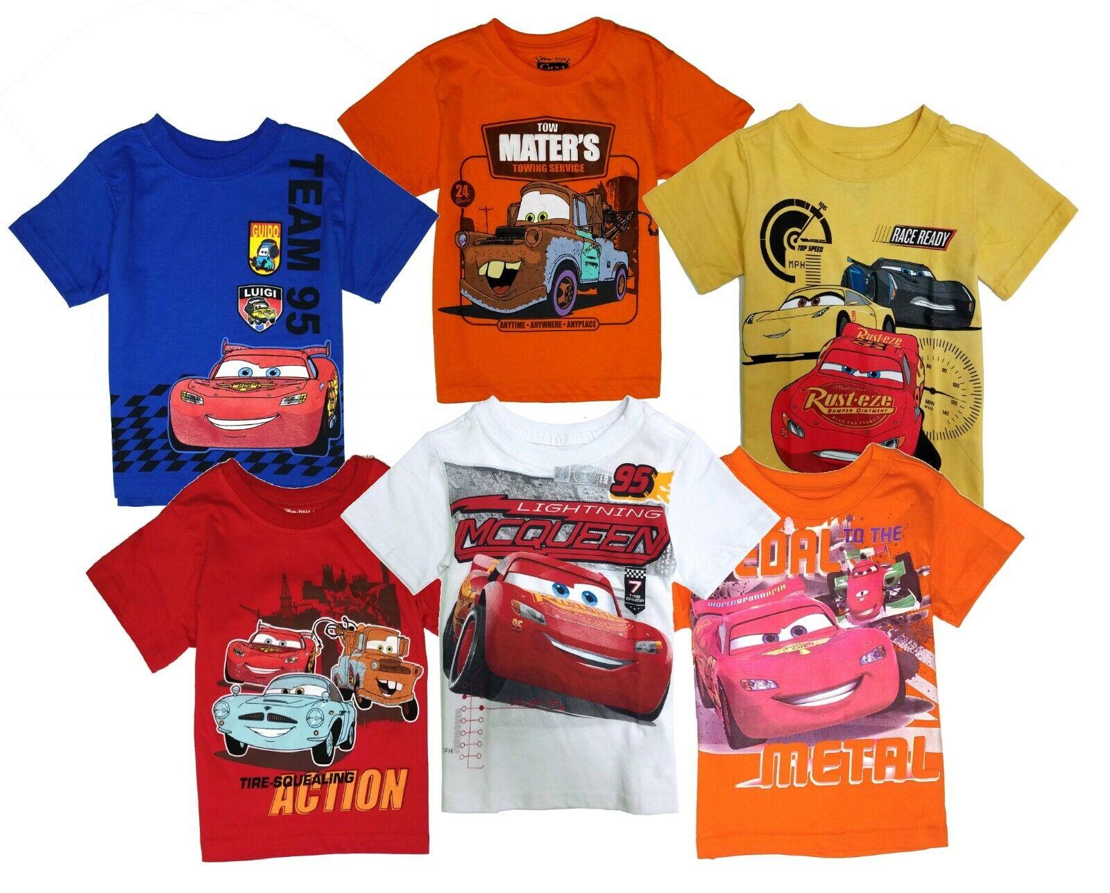 Disney Cars t Shirt Toddler Boys Baby Shirts Cotton Short Sl