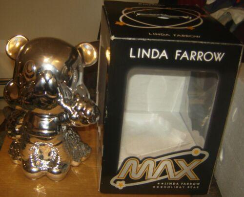 LINDA FARROW MAX BEAR PIGGY BANK CHROME MOON DESIGNER SUNGLASSES HOLDER BOX