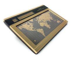 Vintage SEIKO World Time Touch Sensor Clock Bronze Gold Desk QNS901G YJ20 Works