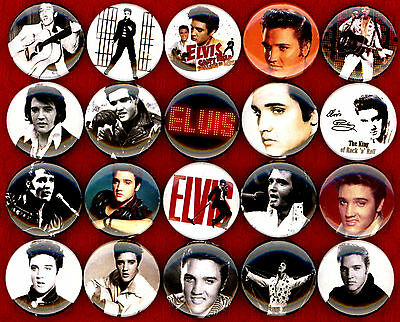 """Elvis Presley x 20 1"""" NEW buttons pin badge logo king of rock and roll"""