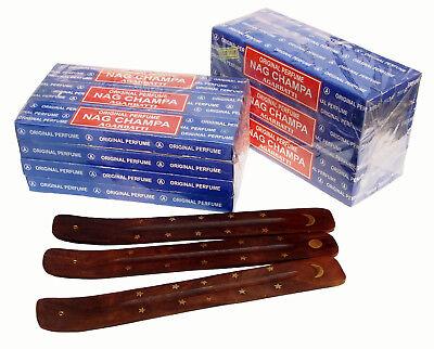 24x Räucherstäbchen  +3 Halter NAG CHAMPA AGARBATHI 660 gr. Räucherwerk indien 7
