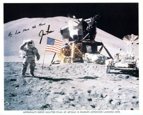 Astronaut Archives Sale!    JIM IRWIN  UNPERSONALIZED SIGNED Apollo 15 LITHO!!