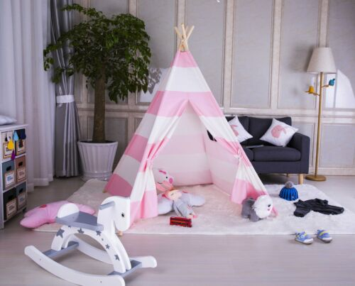 Large Kids Teepee Wigwam Childrens Play Tent Childs Garden Indoor Toy 5/' Canvas