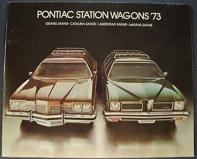 1973 Pontiac Safari Station Wagon Brochure Catalina LeMans Laurentian Canadian