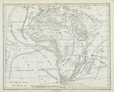 1857 Iconographic Encyclopaedia Africa JG Heck Antique Map