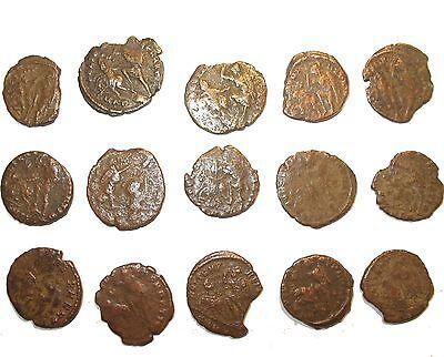 Ancient Roman empire hoard coin Soldier spearing fallen horseman on reverse Nice