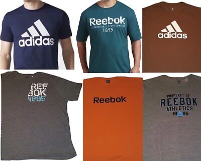 Adidas and Reebok Mens Graphic Tees Big and Tall T-Shirt Sizes Up to