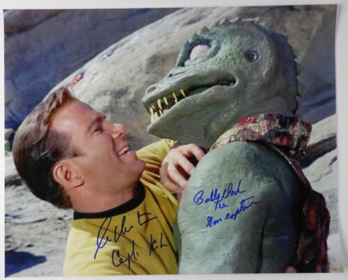 William Shatner Bobby Clark Gorn Signed Autograph JSA Star Trek Kirk 16 x 20