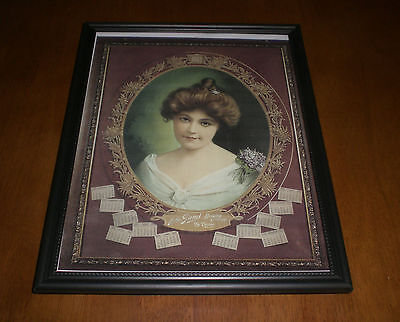 1903 JOHN GUND BREWING COMPANY FRAMED COLOR AD PRINT - LA CROSSE, WIS.