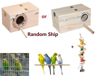 Pet Bird Swing Parrot Parakeet Budgie Cockatiel Cage House + Hanging Funny Toy