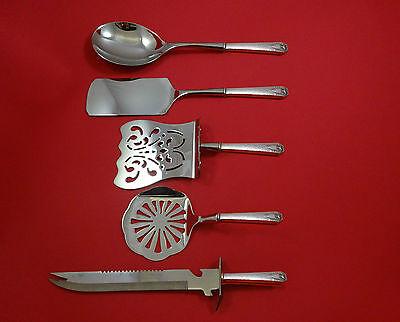 Heraldic by 1847 Rogers Plate Silverplate Brunch Serving Set 5pc HHWS  Custom