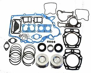 Kawasaki Mule / J. Deer Mower Engine Rebuild Kit w/ 2 Standard Pistons and Rings