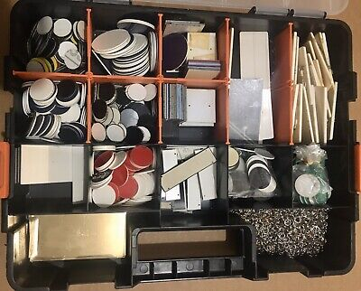 Lot Of Assorted Blank Plastic Engraving Badges Tags Plates Supplies