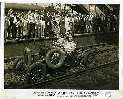 A FIRE HAS BEEN ARRANGED 1935 Bud Flanagan, Chesney Allen 10x8 LOBBY CARD