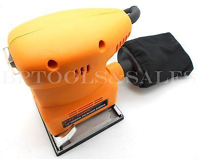 """1/4"""" Orbital Palm Grip Sander Heavy Duty UL Hand Sander 1/4 Sheet w/ Dust Bag"""