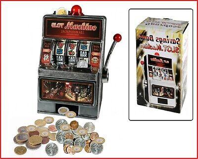 Hucha Máquina Tragaperras Casino Slot Máquina Manco Bandit + Sonido+ Luz
