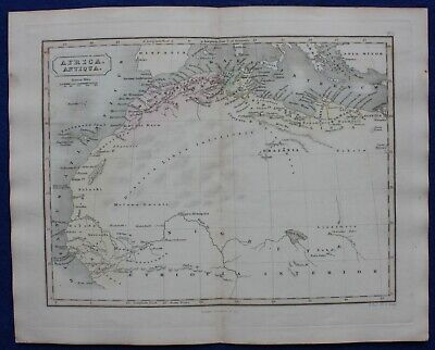 ANCIENT NORTH AFRICA, MAURITANIA, NUMIDIA, original antique map, Butler 1851