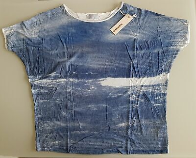 Square Weiß Top (Diesel Damen T-Shirt Top T-SQUAR INA-A MAGLIET100% MODAL Gr: S)