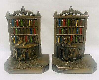 K & O Bookends Library Dog Bookshelf  Kronheim & Oldenbusch Books Vintage