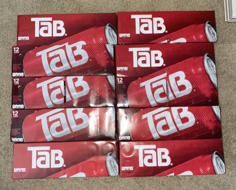 10 12-Pack's Of Tab Soda Cola Brand New Unopened SHIPS TODAY