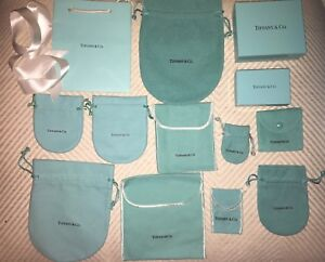Authentic Tiffany & Co Bags Pouches Ribbons Box Gift Crafts