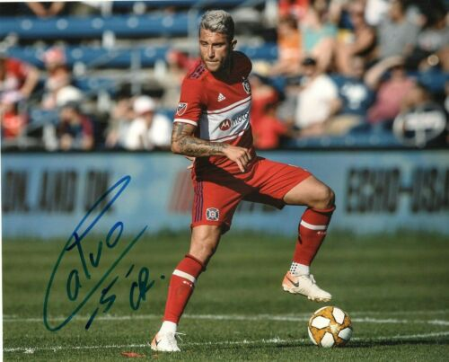 Chicago Fire Francisco Calvo Autographed Signed MLS 8x10 COA #3