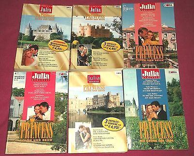 Princess - Julia Exklusiv - Band: 11, 31, 41, 113, 117, 123 = 18 Romane -  bk863