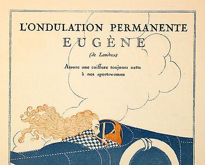 """Dauerwelle Perm Hair Frisör Werbung Mode Fashion """"Gazette du Bon Ton"""" um 1921"""