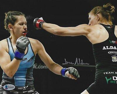 Irene Aldana Signed UFC 8x10 Photo BAS COA Invicta FC 19 Faith Van Duin Picture