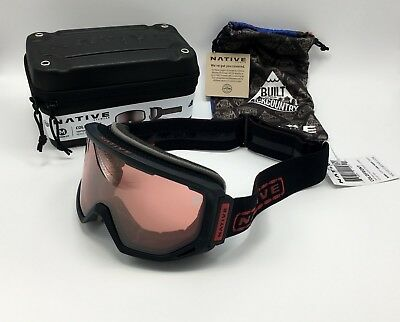 ee6abf44e8 Native Eyewear Coldfront™ Tartan Black Snow Goggles Photochromic React Rose  Lens