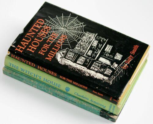Vintage Halloween Hardback Books Haunted Houses Witch