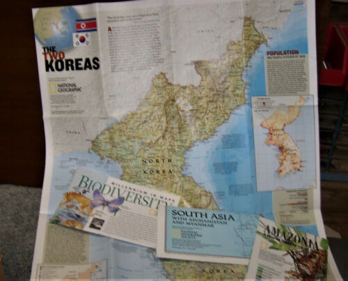 Lot of National Geographic Maps, Vintage Inserts, 75 Pieces