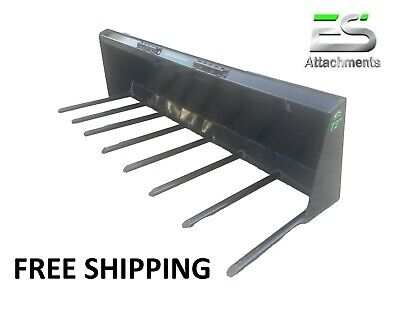 Es 72 Manure Fork For Skid Steer Quick Attach Loader -free Shipping