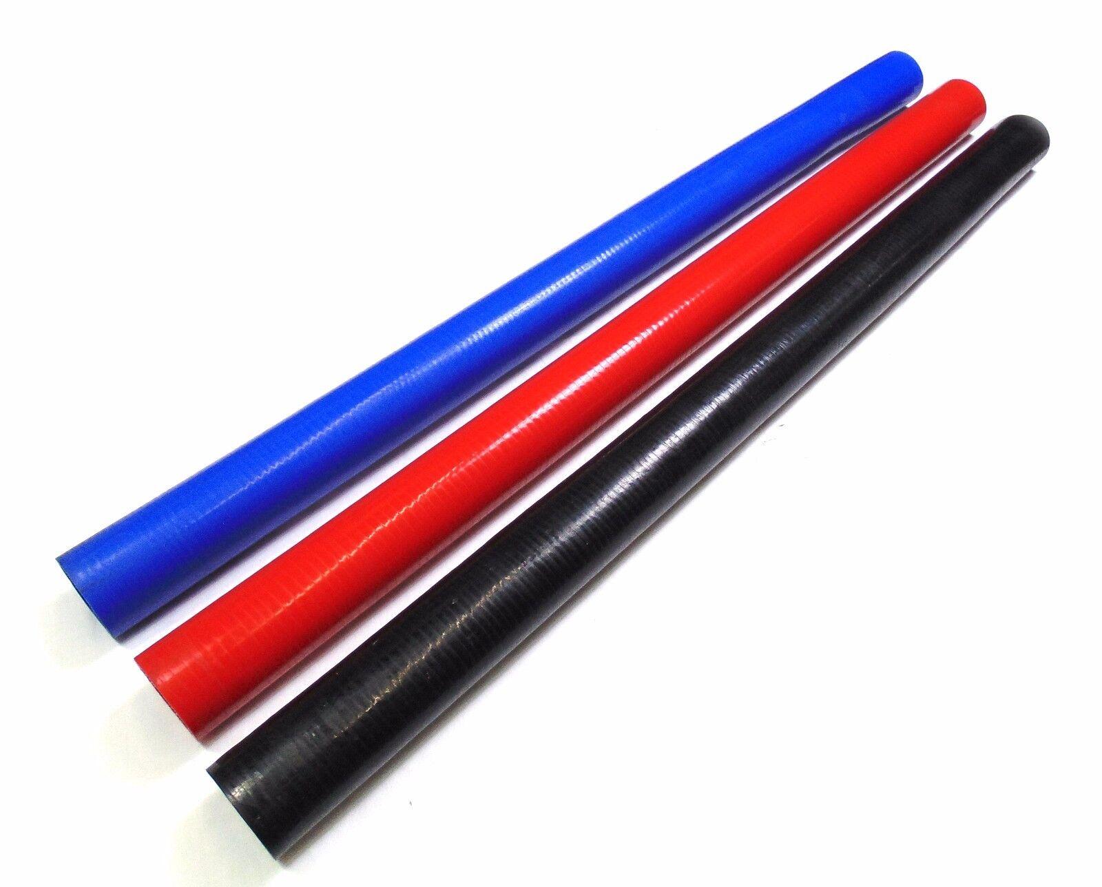 "Black Red 2.5/"" Straight Silicone Hose Pipe Intercooler Radiator Coupler Turbo"