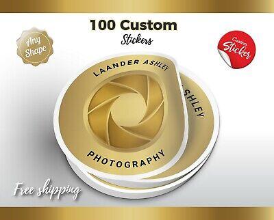 100 Custom Printed Stickers Die Cut Vinyl Bulk Product Labels Vinyl Labels
