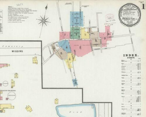 Princeton,  New York~Sanborn Map©sheet ~20 maps full color