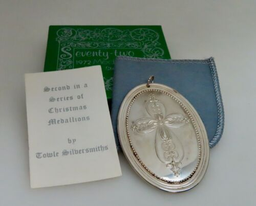 Towle 1972 Sterling Silver Christmas Medallion Ornament - 80890