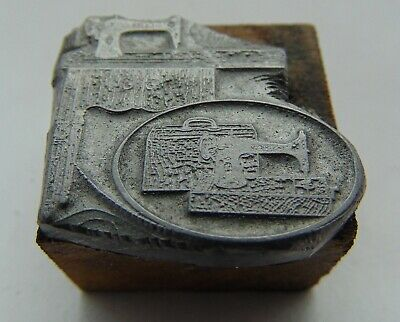 Vintage Printing Letterpress Printers Block Sewing Machines