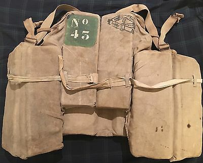 SS NORMANDIE ORIGINAL 1935 LIFE JACKET PRESERVER CGT FRENCH LINE ART DECO FRANCE