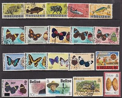 BELIZE SMALL MAINLY USED COLLECTION 20 STAMPS