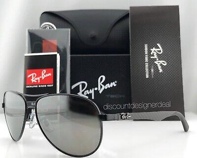 Ray-Ban Aviator Carbon Polarized Sunglasses RB8313 002/K7 Black/Gray Mirror (Ray Ban Polarized Aviators Womens)