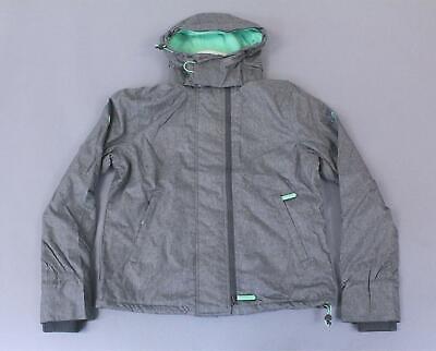 Superdry Women's Arctic Hooded Pop Zip Windcheater Jacket AB3 Gray US:12 UK:16