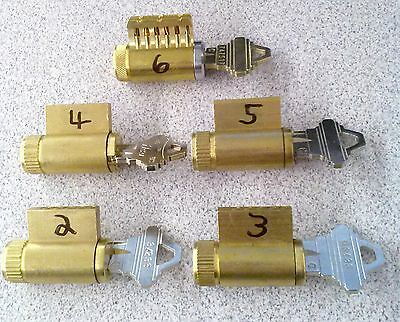 Practice Lock Set 2345 With 6 Pin Cutaway Locksmith Training Pick Schlage
