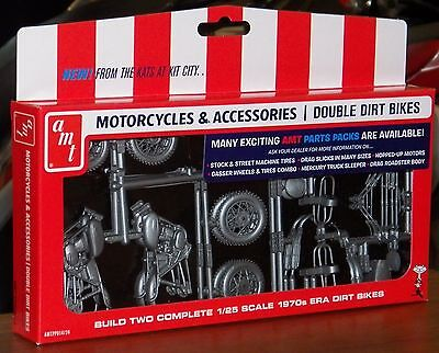 AMT PP14 1970's Yamaha Dirt Bike motorcycles  2 in 1 Parts Pack model kit 1/25   for sale  Shipping to India