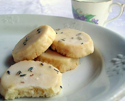 4 Dozen Homemade Lavender Shortbread Cookies w/Lavender Glaze