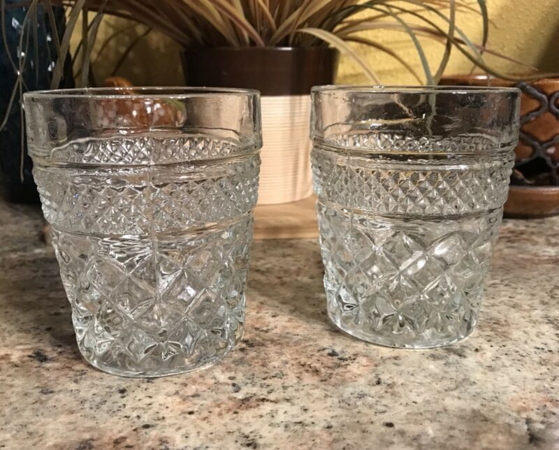 Pair of Vtg Anchor Hocking Crystal Clear Wexford Highball Glass