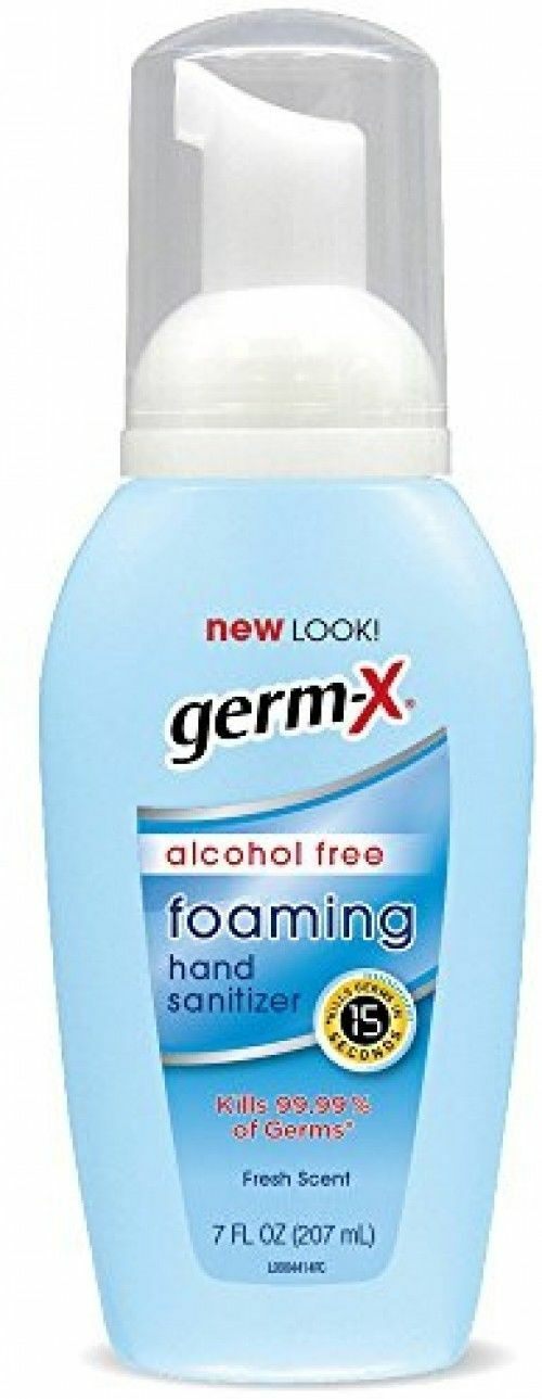 Germ-X Alcohol-Free Foaming Hand Sanitizer with Pump, Fresh