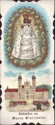 Maria Einsiedeln Wallfahrt Heiligenbild Andenken Österreich Koloriert (B-8094