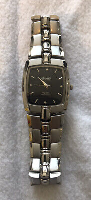 Qmax Quartz Wrist Watch Silver Black Face Stainless Steel Waterproof Mint 🕰 for sale  Shipping to Nigeria